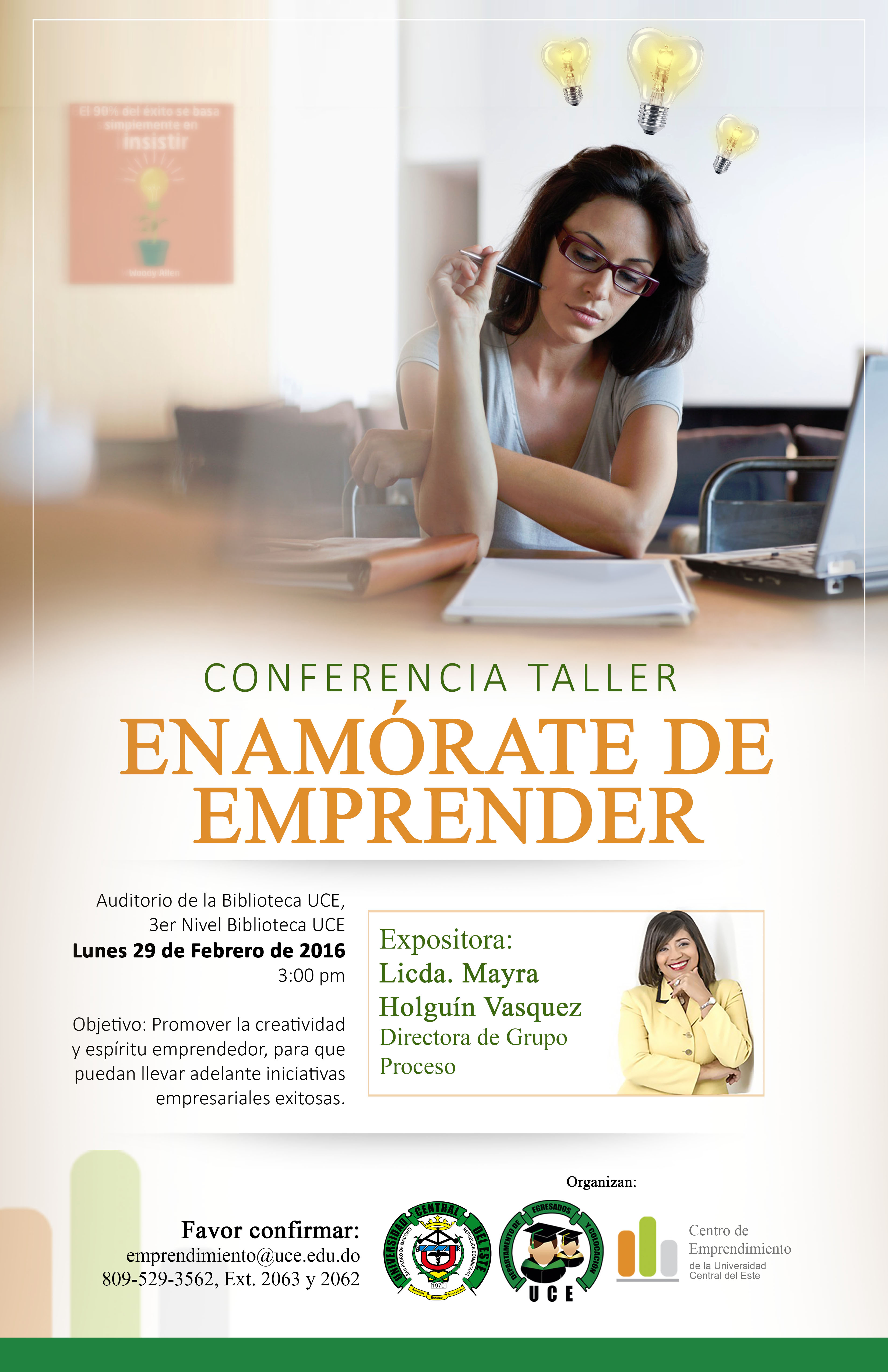 "Conferencia ""Enamórate de Emprender""."